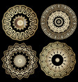 greek ornamental round mandala patterns set vector image