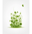 Green meadow background for your design vector image vector image