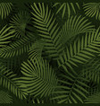 green tropical leaves seamless graphic design vector image vector image
