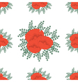 Hand drawn red poppies vector image