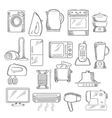 Home and kitchen appliance icons set vector image vector image