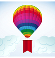 hot air balloon background vector image vector image