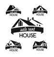House logo template set Realty theme icon vector image vector image