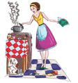Housewife vector image