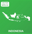indonesia map icon business concept indonesia vector image