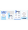 industry information turquoise brochure template vector image vector image