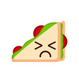 isolated sad sandwich emote vector image vector image