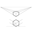 isometric and perspective drawings vector image vector image