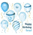 Israel independence day Happy birthday Balloons vector image vector image