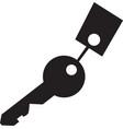 key icon isolated black on white background vector image vector image