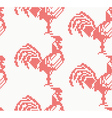 Knitted Rooster Seamless Pattern in Red Color vector image vector image