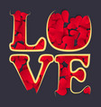 love happy valentines day card font type a lot vector image vector image
