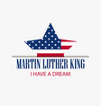 martin luther king day star with flag usa vector image