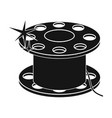metal bobbin for sewing sewing and equipment vector image vector image