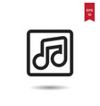 music player icon vector image vector image