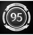 Ninety five years anniversary celebration with vector image vector image