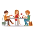 People at cafe and restaurant vector image vector image