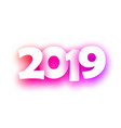 pink spectrum 2019 new year festive background vector image vector image