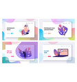 polygraph test landing page template set tiny vector image vector image