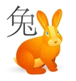 Rabbit as Chinese zodiac symbol vector image