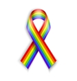 Rainbow Ribbons Isolated on white with vector image vector image