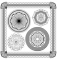 set vintage backgrounds guilloche ornament vector image vector image