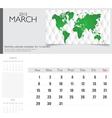 simple 2015 calendar march vector image vector image