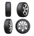 tyres realistic automobile wheeling vector image vector image