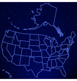 USA map on starry sky vector image