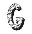 vintage desert letter g monochrome template vector image vector image