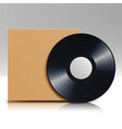 vinyl disc in a case blank isolated white vector image vector image