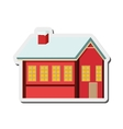 winter cabin icon vector image