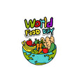world food day vector image vector image