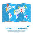 world travel poster vector image vector image
