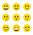 Yellow Smiley Faces over White vector image vector image