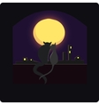 The cat sits on the roof vector image