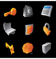 Icons for banking and finance vector image