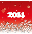 2014 Happy New Year Card vector image vector image