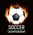 2018 soccer championship background vector image