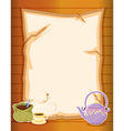 A paper with coffee and a kettle vector image vector image
