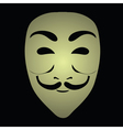 anonymous mask vector image vector image