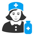 apothecary lady flat icon vector image vector image
