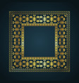 aztec style border background vector image vector image