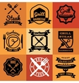 Barbecue party vintage emblems labels vector image vector image