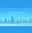 Beautiful Chrismas winter landscape background vector image vector image