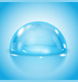 blue glass dome shiny transparent semi sphere on vector image vector image