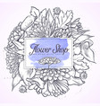 bouquet callas and chrysanthemum vector image vector image