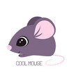 card with cute mouse vector image vector image