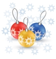 Christmas tree toy Round ball vector image vector image
