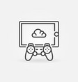 cloud gaming on tablet with gamepad concept vector image vector image